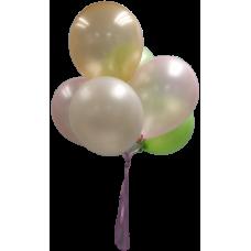 Assorted Helium Latex Balloons x 6