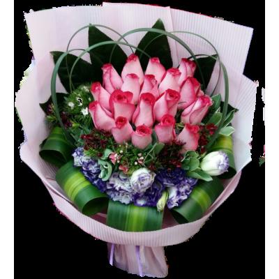 Milk Pink Roses Boquuet 18pcs