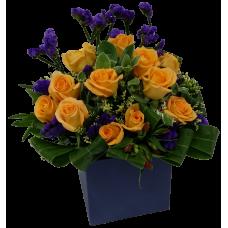 One Dozen Roses Box Arrangement
