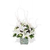 White Oriental Lily Arrangement