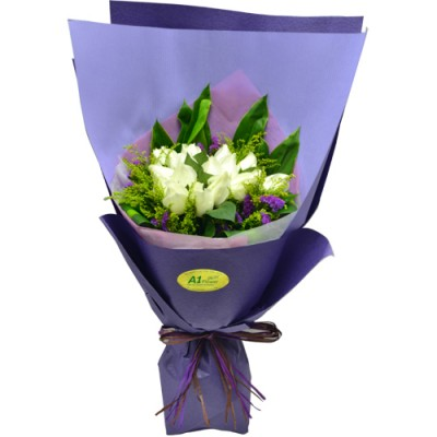 One Dozen Roses Bouquet