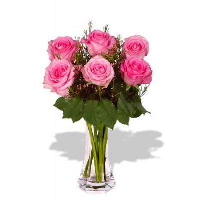 6 Rose Vase Bouquet
